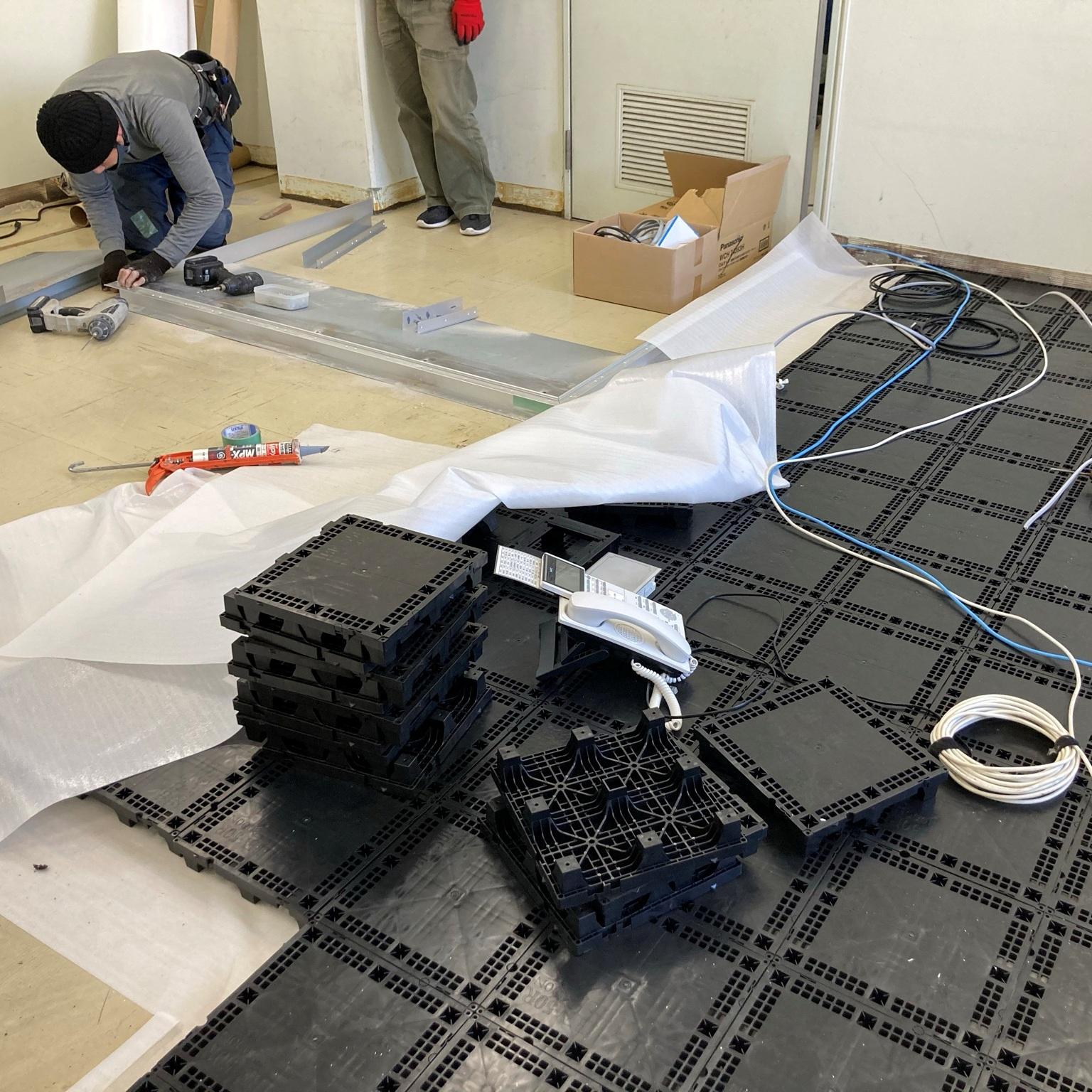 徳島・香川のオフィス内装工事|事務室向けOAフロア改修工事