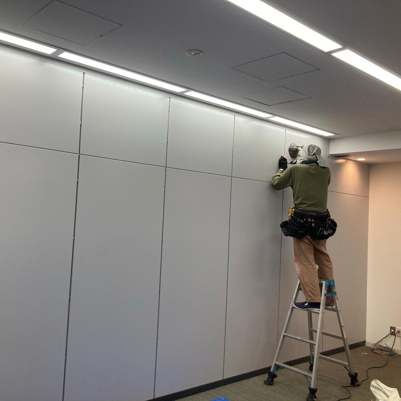 徳島・香川のオフィス内装工事|スチールパーテーション組立工事(高松)