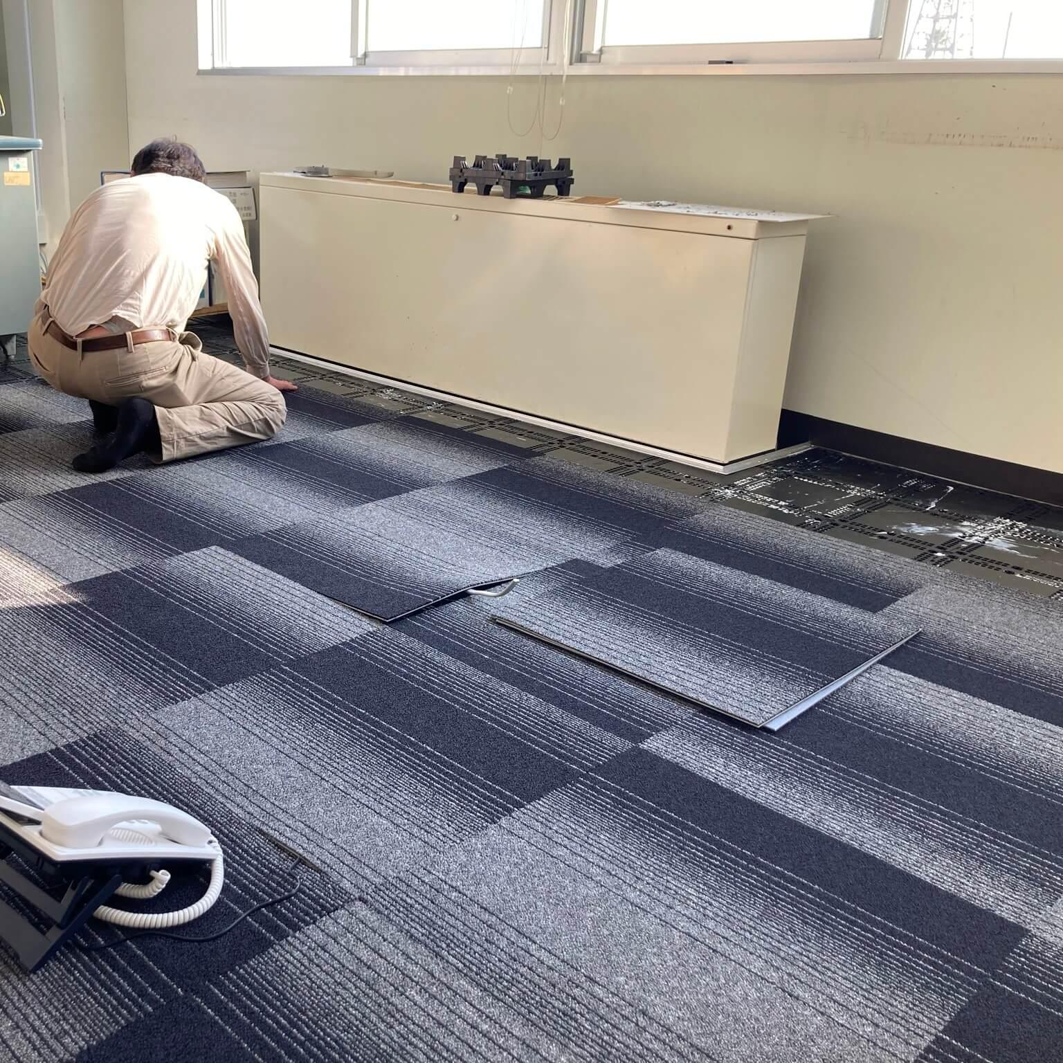 徳島・香川のオフィス内装工事|執務スペースOAフロア改修工事(香川・高松)